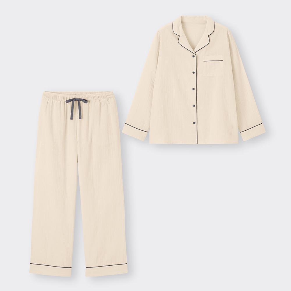 (GU)オーガニックコットンパジャマ(長袖&ロングパンツ)