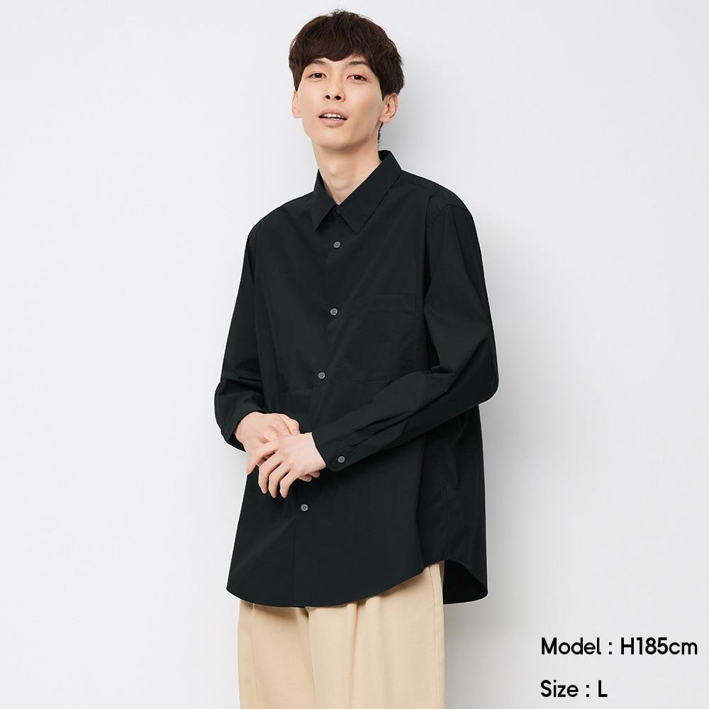 (GU)ブロードリラックスフィットシャツ(長袖)