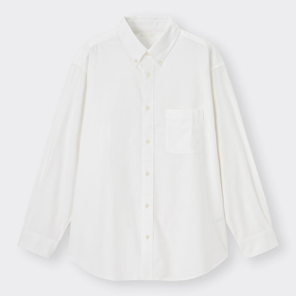 (GU)オックスフォードリラックスフィットシャツ(長袖)+E