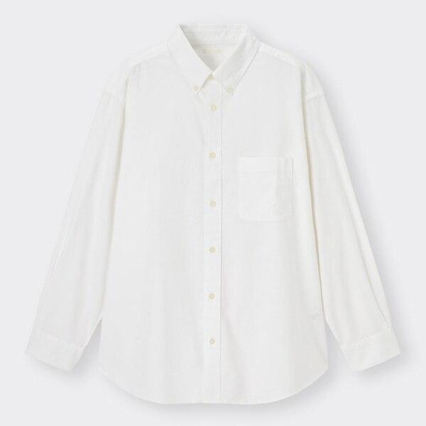 オックスフォードリラックスフィットシャツ(長袖)+E-OFF WHITE