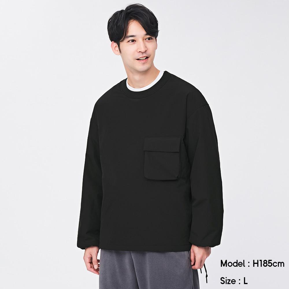 (GU)ライトパデットプルオーバーシャツ(長袖)NT+X