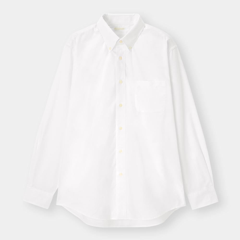 (GU)イージーケアシャツ(長袖)SW+X