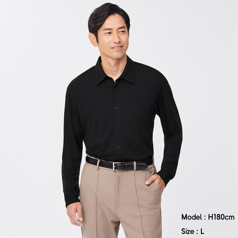 (GU)カットソーシャツ(長袖)SW