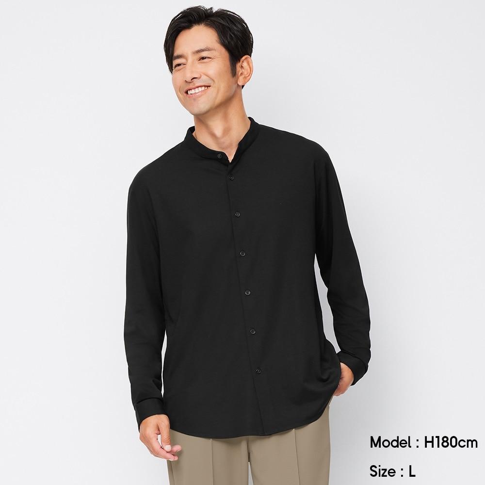(GU)カットソーバンドカラーシャツ(長袖)SW
