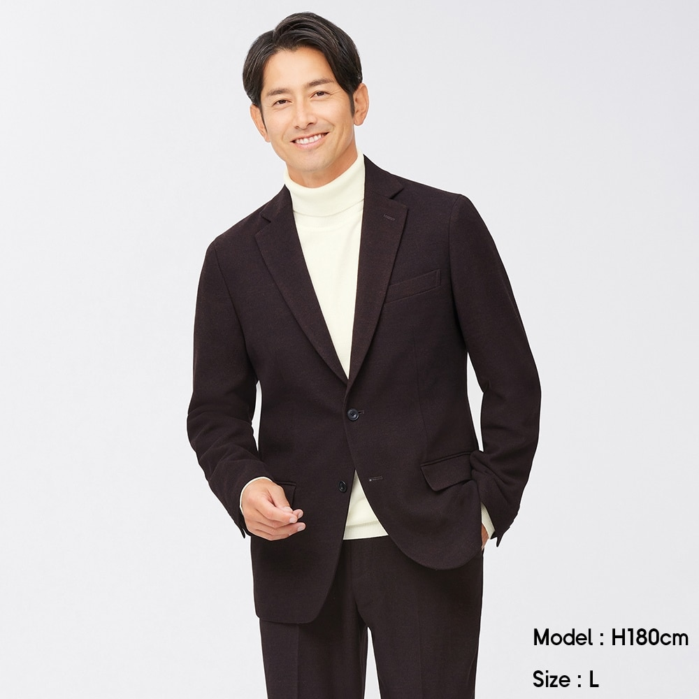 (GU)起毛テーラードジャケットSW+X(セットアップ可能)