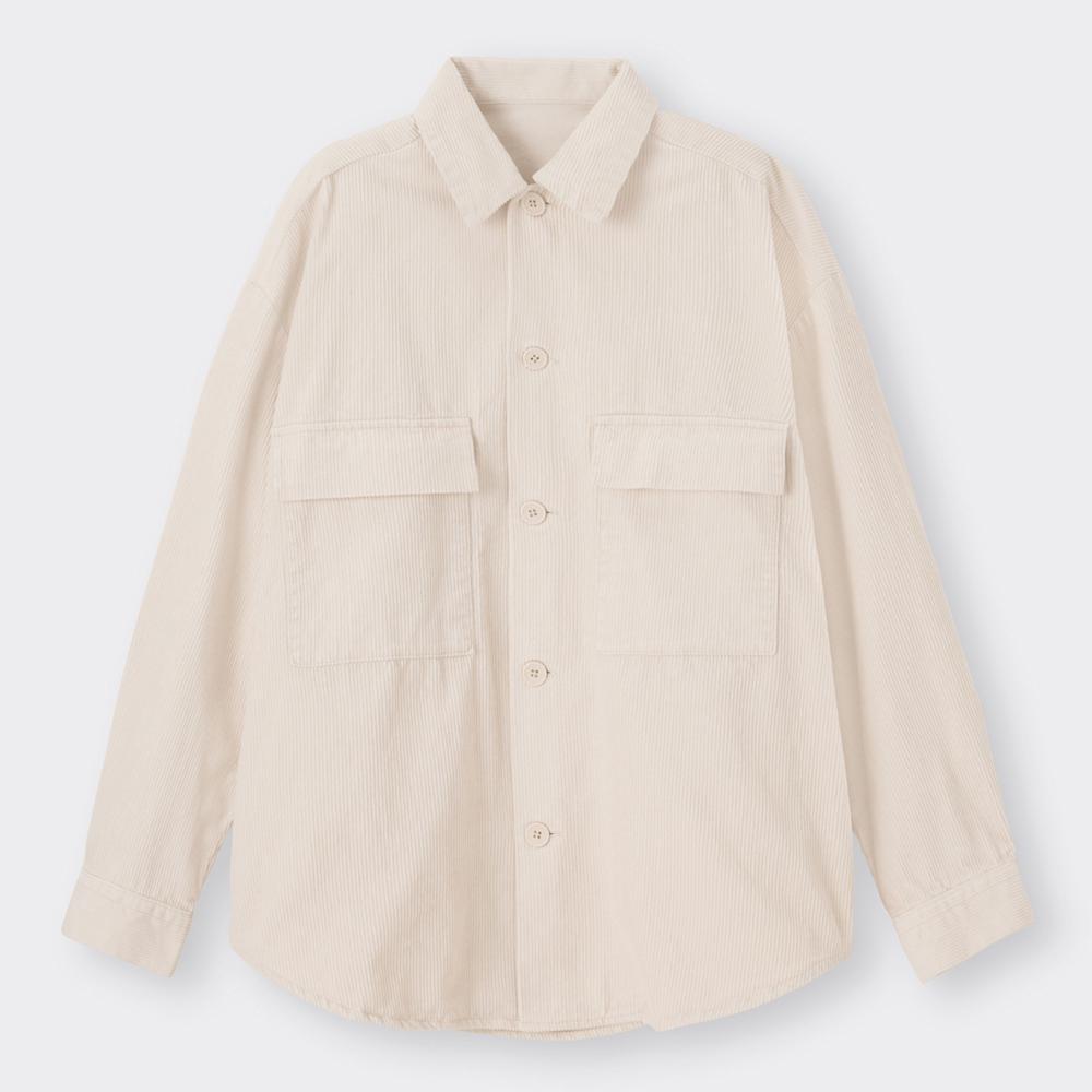 (GU)コーデュロイCPOシャツ(長袖)(セットアップ可能)
