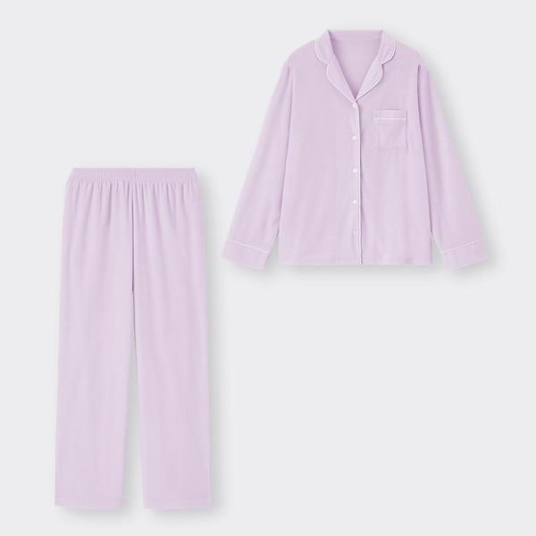 パイルパジャマ(長袖&ロングパンツ)-LIGHT PURPLE