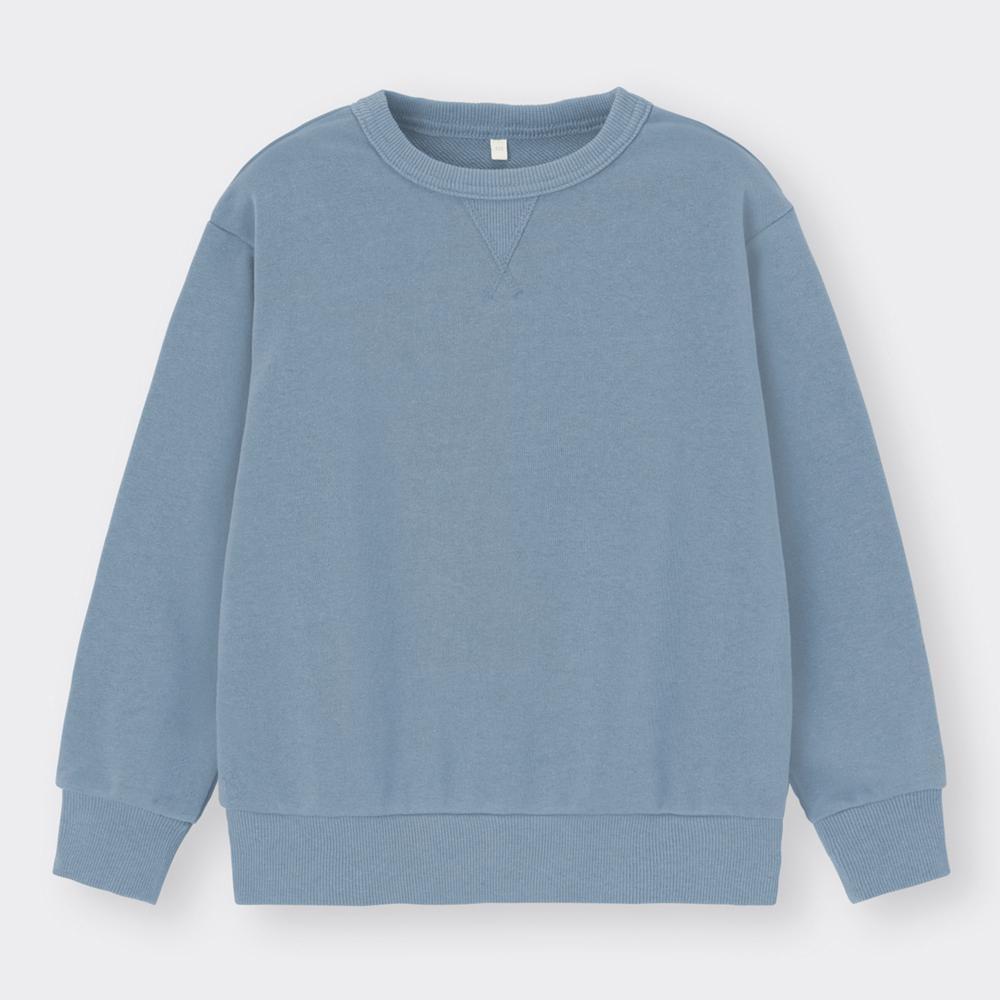 (GU)KIDS(男女兼用)クルーネックスウェットプルオーバー(長袖)