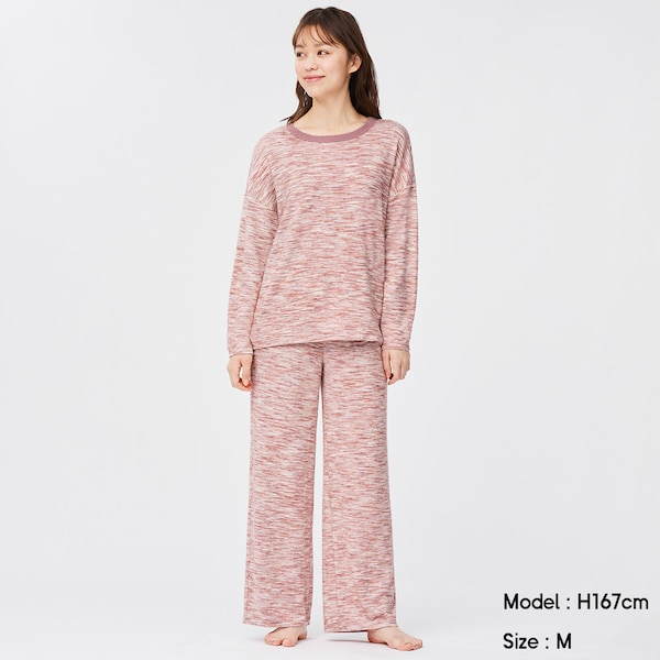 カラーミックスラウンジセット(長袖&ロングパンツ)+X-PINK