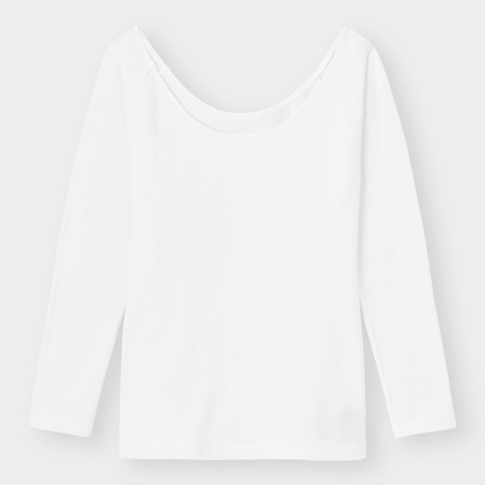 (GU)スタイルヒートエクストラワイドネックT(長袖)