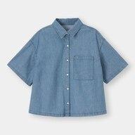 ライトデニムオーバーサイズシャツ(5分袖)SD+X