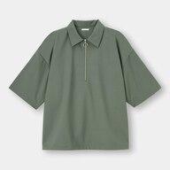 ハーフジッププルオーバーシャツ(5分袖)NT+E