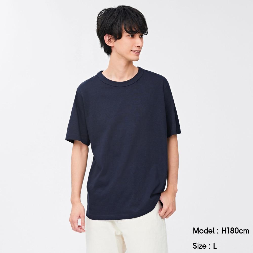 (GU)コットンクルーネックT(半袖)