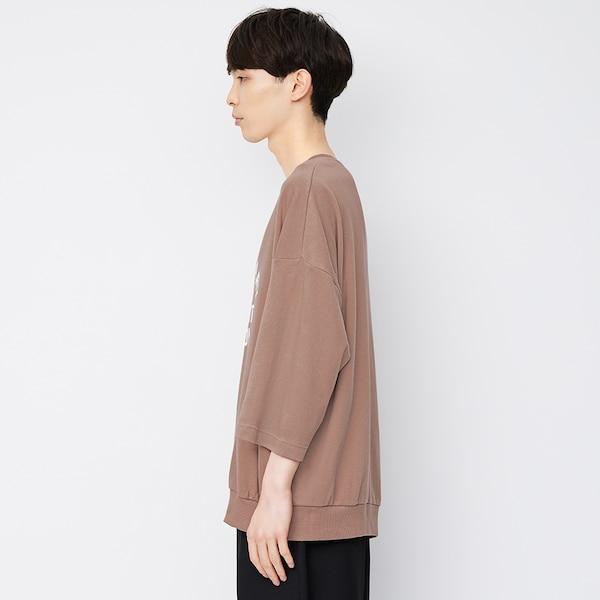 ワイドフィットT(7分袖)(ロゴ)
