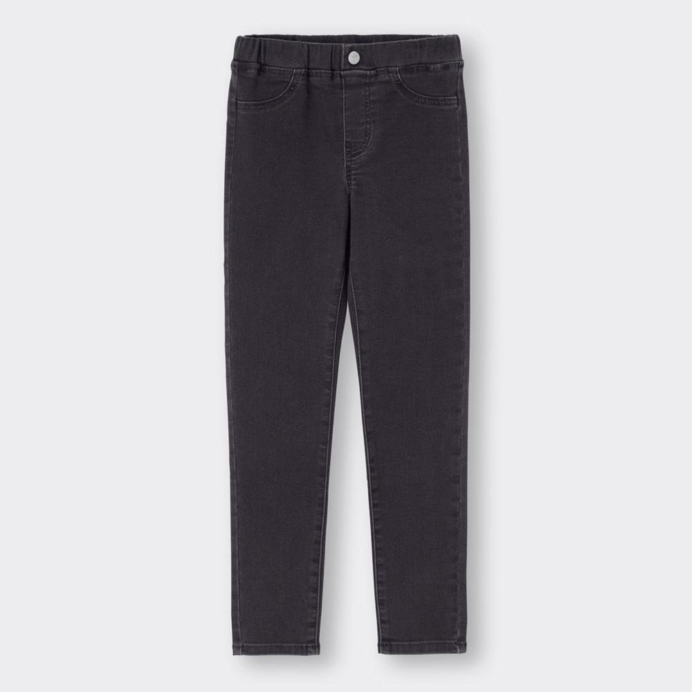 (GU)KIDS(男女兼用)エクストラストレッチデニムレギンスパンツ