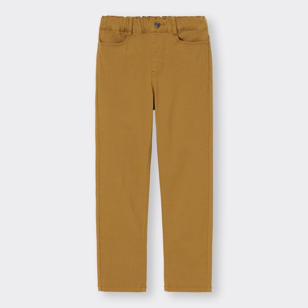 (GU)KIDS(男女兼用)ストレッチカラーストレートパンツ