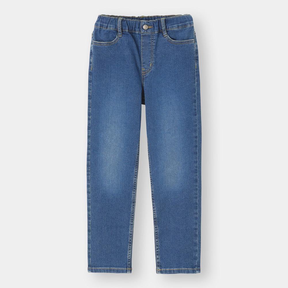 (GU)KIDS(男女兼用)ストレッチデニムストレートパンツ