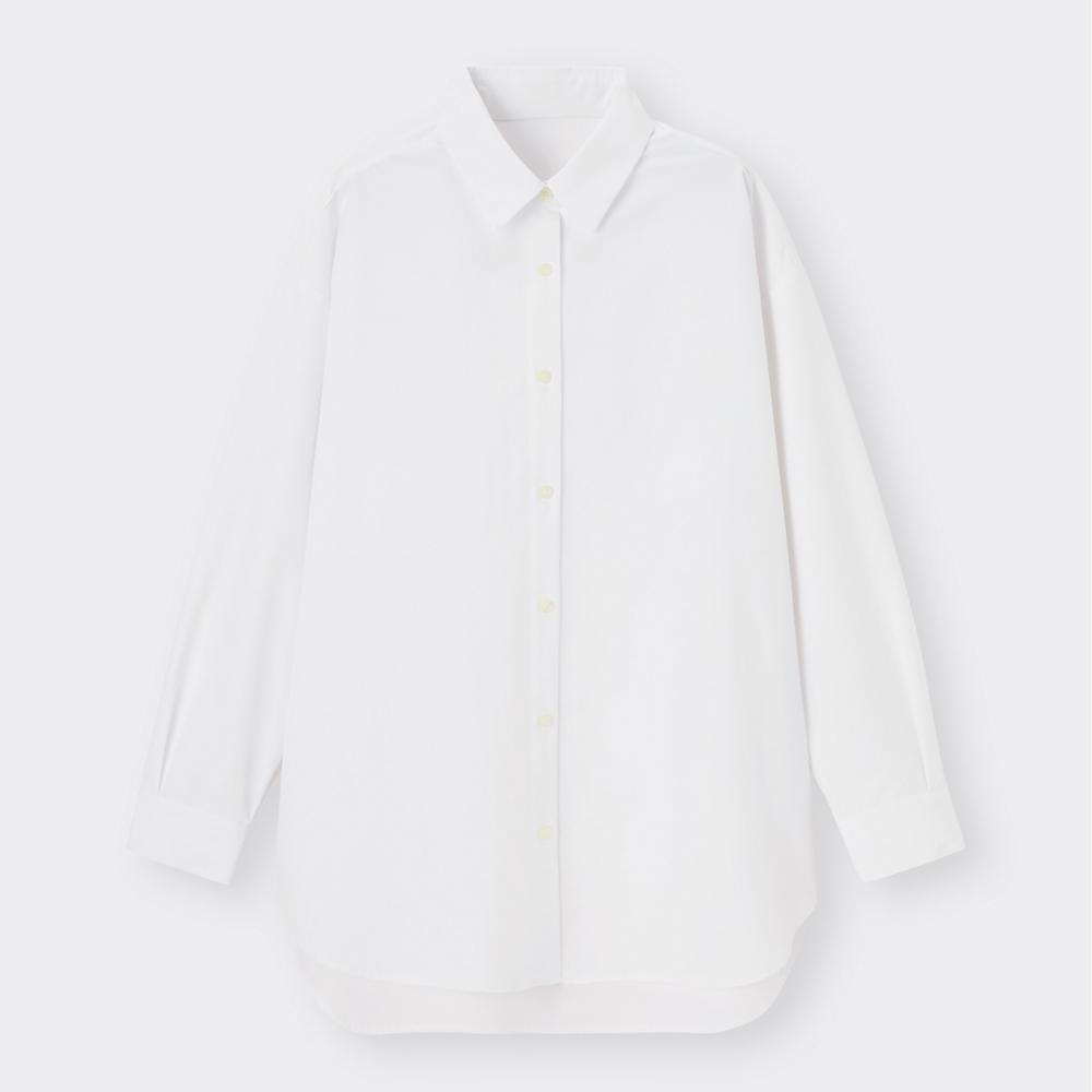 (GU)オーバーサイズシャツ(長袖)