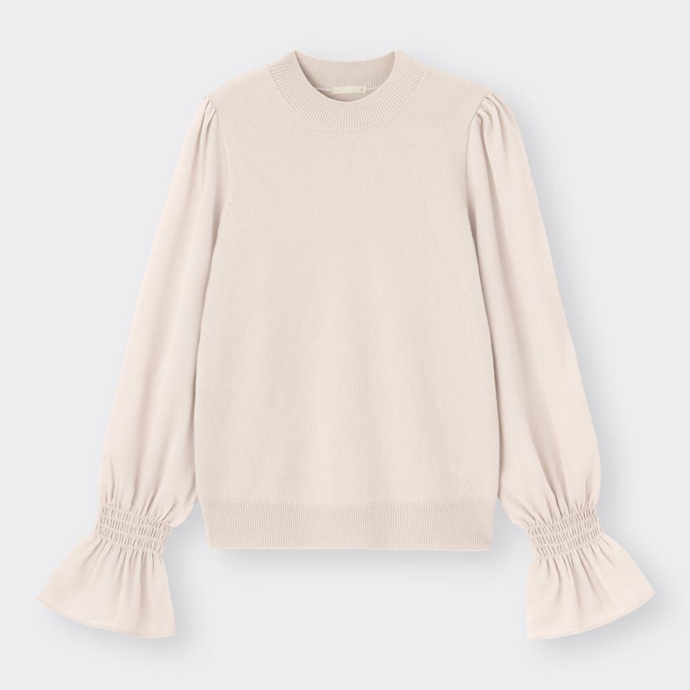 (GU)サテンスリーブセーター(長袖)Z