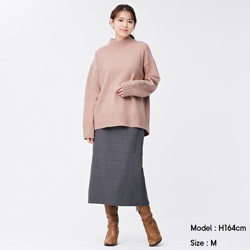 (GU)チェックナロースカート
