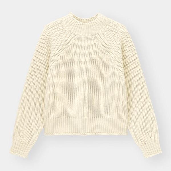 ローゲージハイネックセーター(長袖)+E-NATURAL