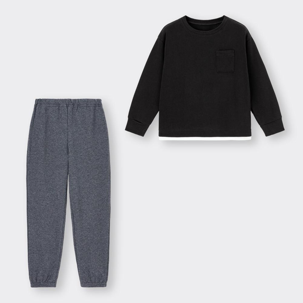 (GU)KIDS(男女兼用)スウェットセット(長袖)(ポケット)