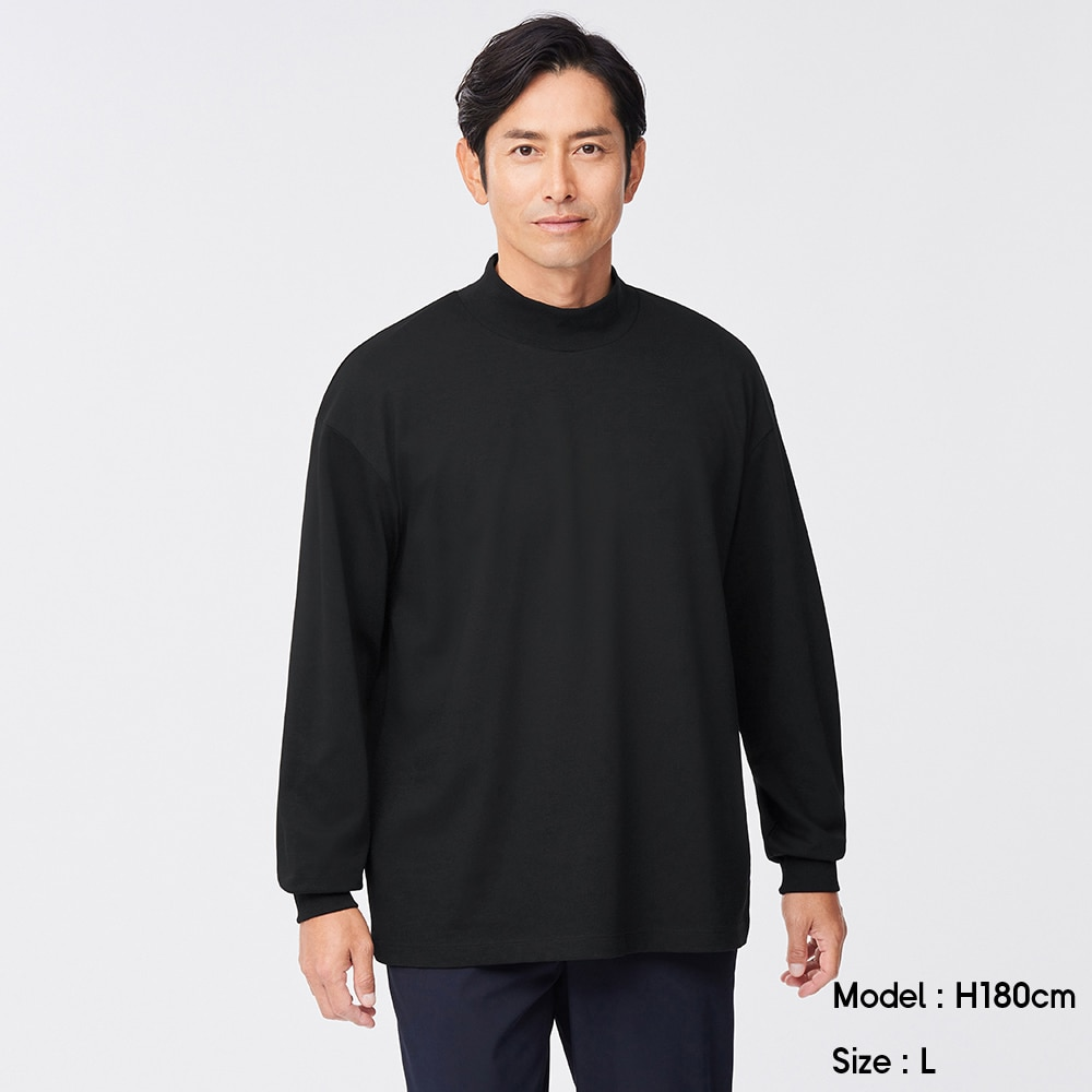 (GU)ドライポンチモックネックT(長袖)SW