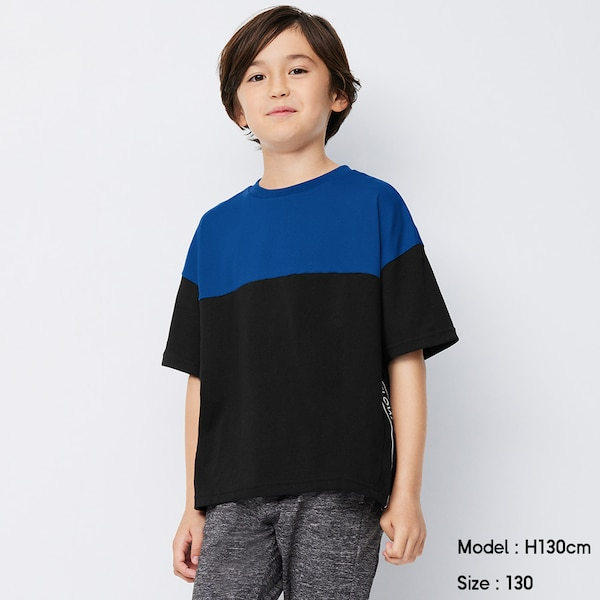 BOYSドライサイドロゴT(半袖)GA+X-BLUE