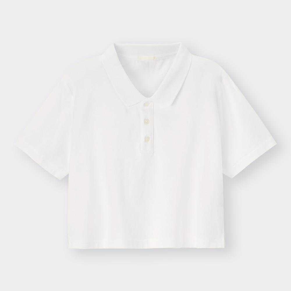 (GU)クロップドポロシャツ(半袖)YG+E