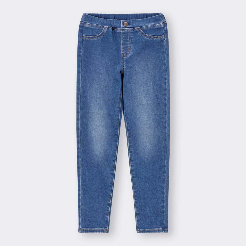 (GU)KIDS(男女兼用)ストレッチ裏起毛デニムスキニーパンツ