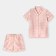 コットンパジャマ(半袖&ショートパンツ)(ギンガム)+X