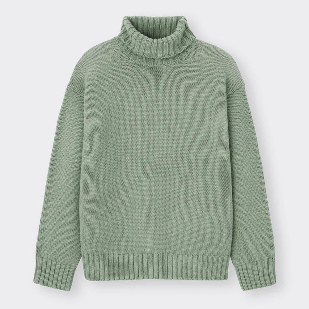 (GU)ローゲージタートルネックセーター(長袖)