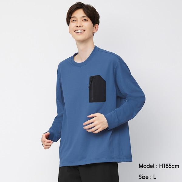 ドライジップポケットビッグT(長袖)GA+E-BLUE
