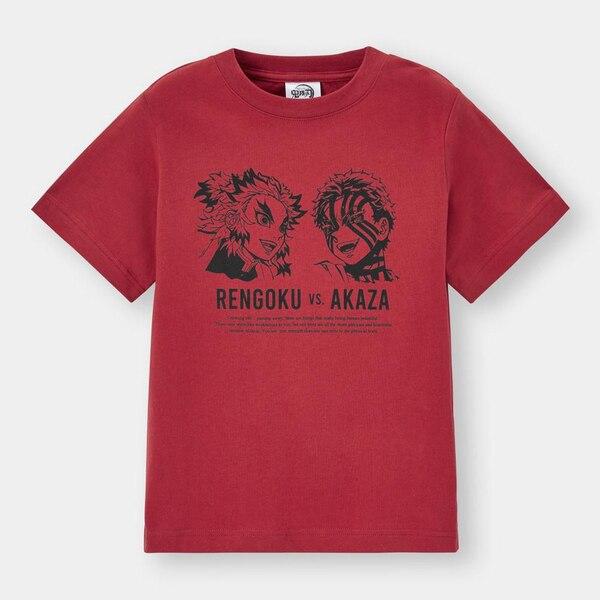 KIDS(男女兼用)グラフィックT(半袖)Demon Slayer 5-RED