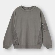 布帛コンビビッグスウェットシャツ(長袖)+E