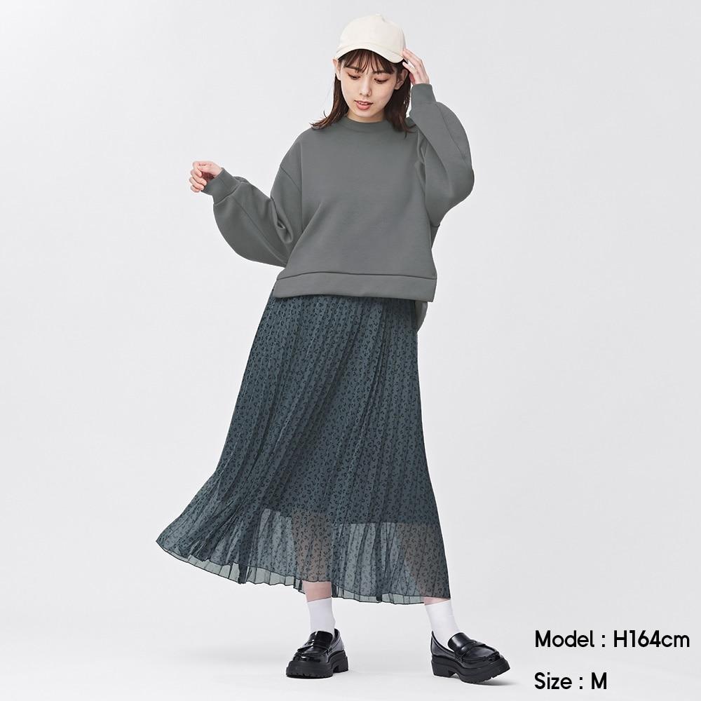 (GU)プリーツロングスカート(アニマル)
