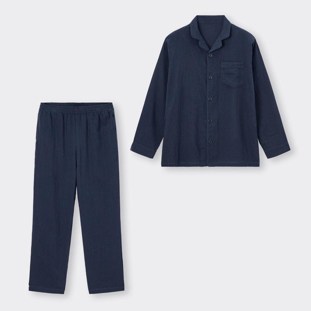 (GU)オーガニックコットンパジャマ(長袖&ロングパンツ)+E