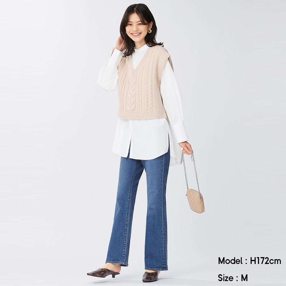 (GU)フレアジーンズ(丈標準72~76cm)