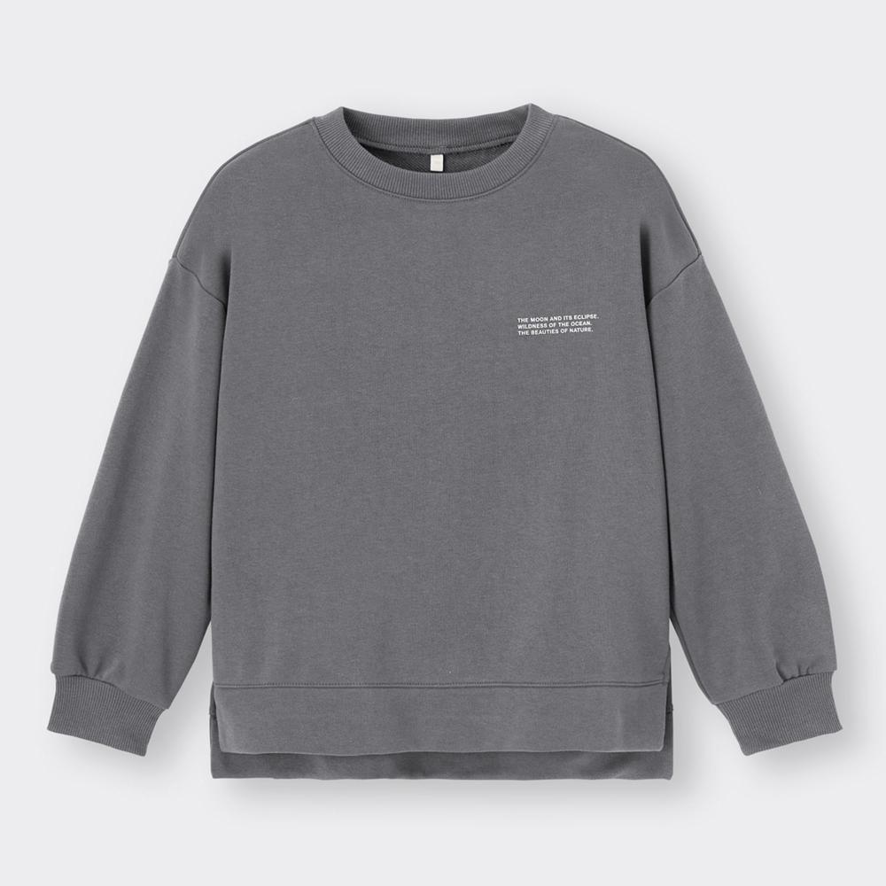 (GU)KIDS(男女兼用)ドライスウェットプルオーバー(長袖)(バックロゴ)