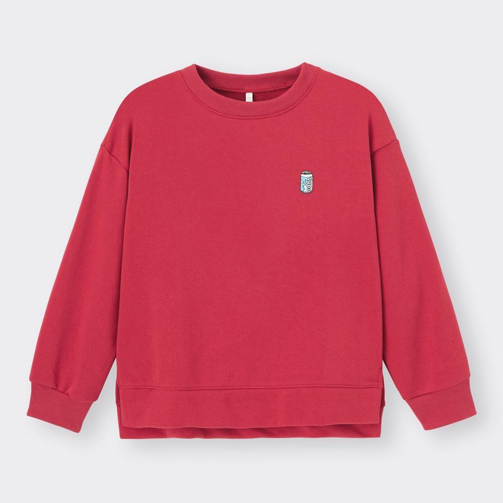 (GU)KIDS(男女兼用)ドライスウェットプルオーバー(長袖)(ワンポイント)