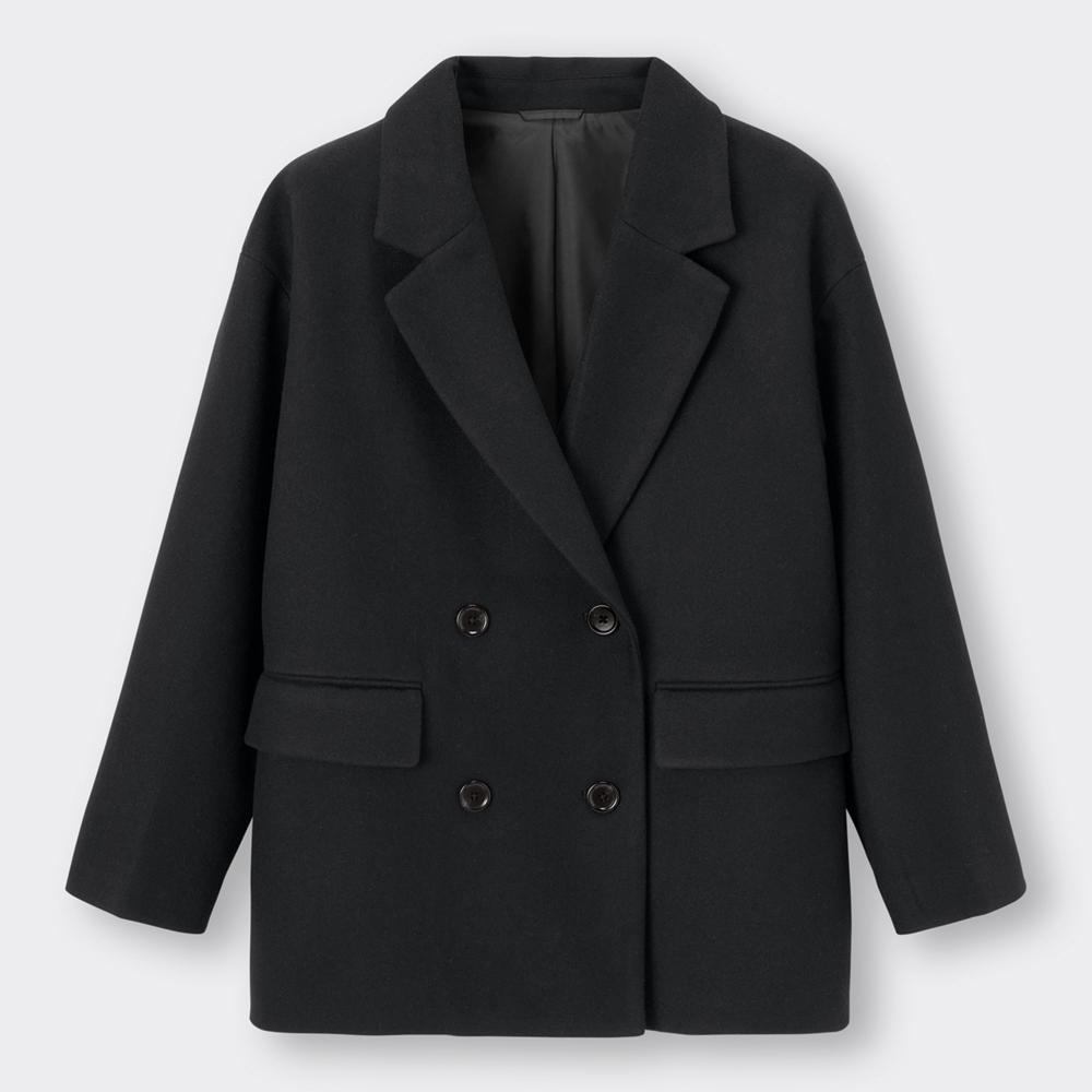 (GU)オーバーサイズダブルブレストジャケット+EC