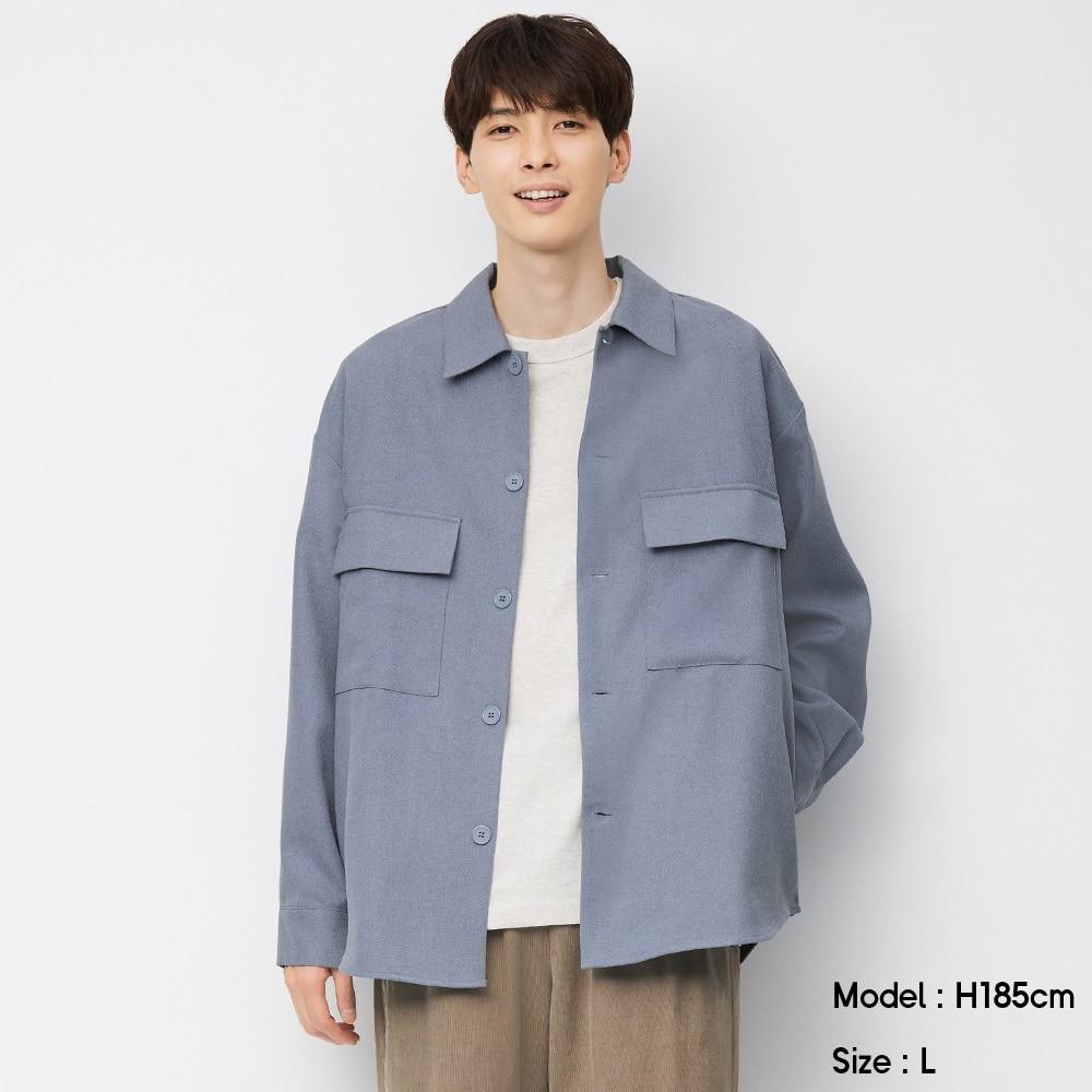 (GU)CPOシャツ(長袖)(セットアップ可能)