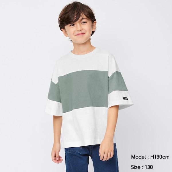 BOYSバイカラービッグT(5分袖)A-OFF WHITE
