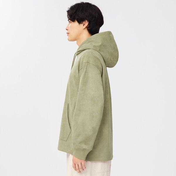 フェイクスエードプルパーカ(長袖)NT+E