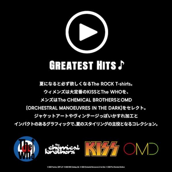 グラフィックT(半袖)GreatestHits 6