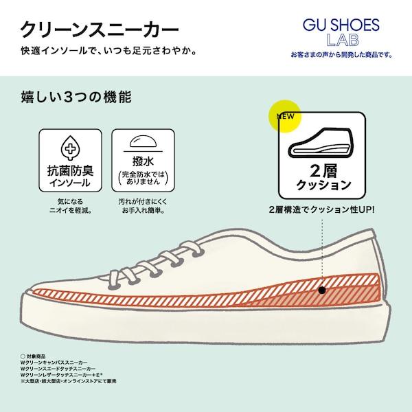 クリーンレザータッチスニーカー+E