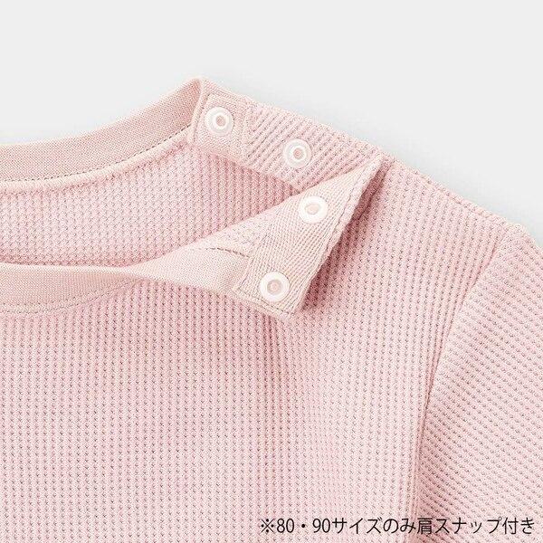 BABY(TODDLER)ワッフルクルーネックT(半袖)+E