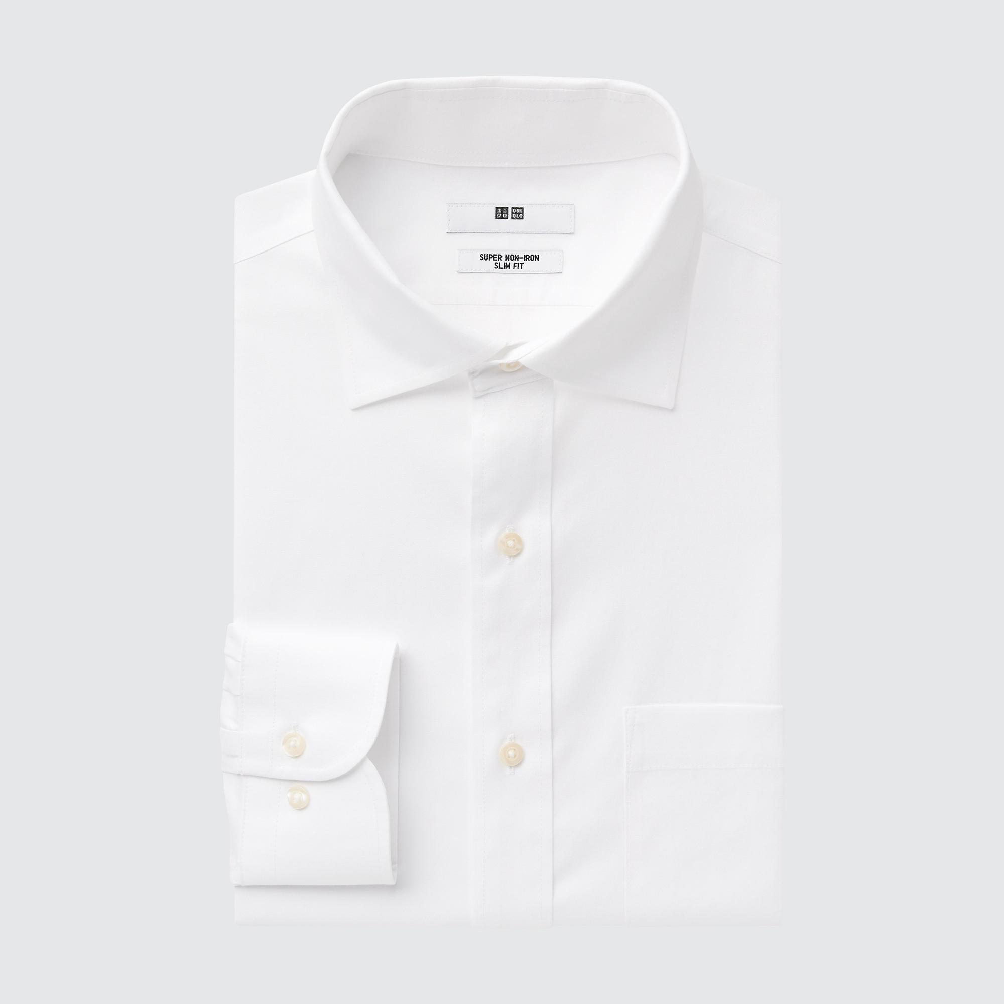 ユニクロのおすすめワイシャツは、ファインクロススーパーノンアイロンスリムフィットシャツ
