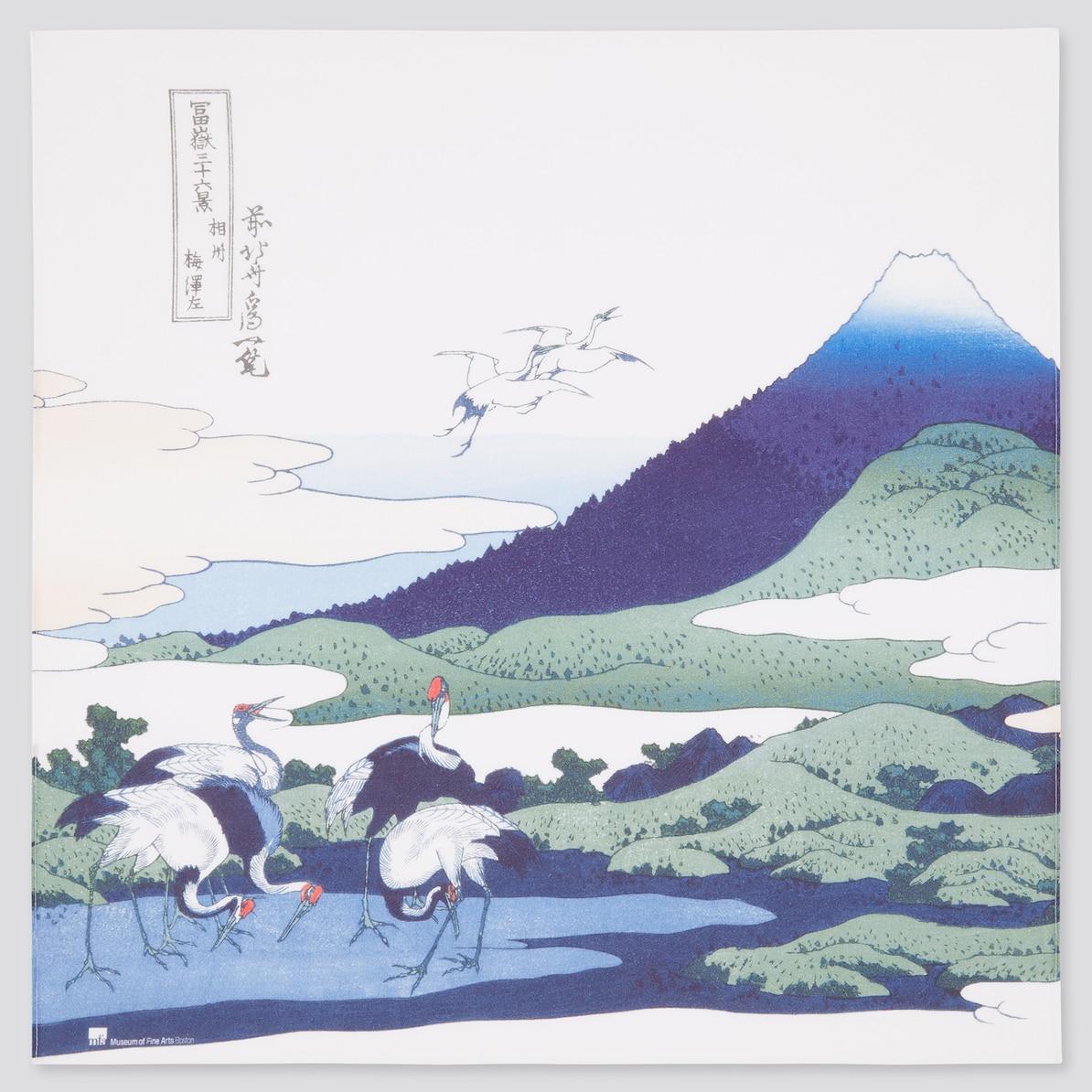 江戸浮世絵 葛飾 北斎 バンダナ (男女兼用) | ユニクロ
