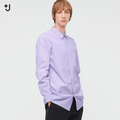 スーピマコットン レギュラーフィットシャツ (長袖・ストライプ)